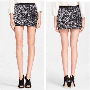 NWT Haute Hippie Silk Beaded Mini Skirt